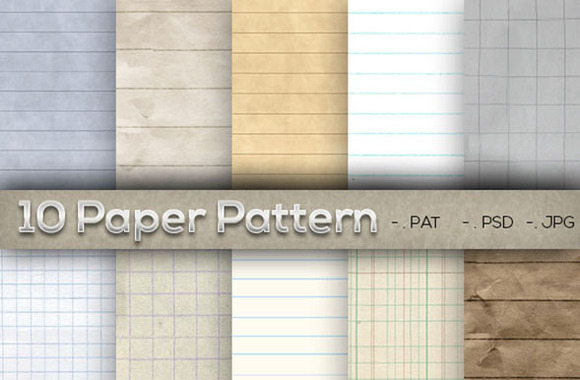 10 Lined Paper Pattern Part 1