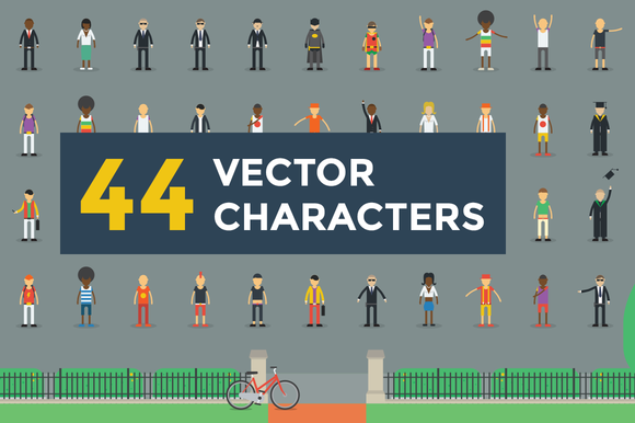 44 Vector Characters Illustrations
