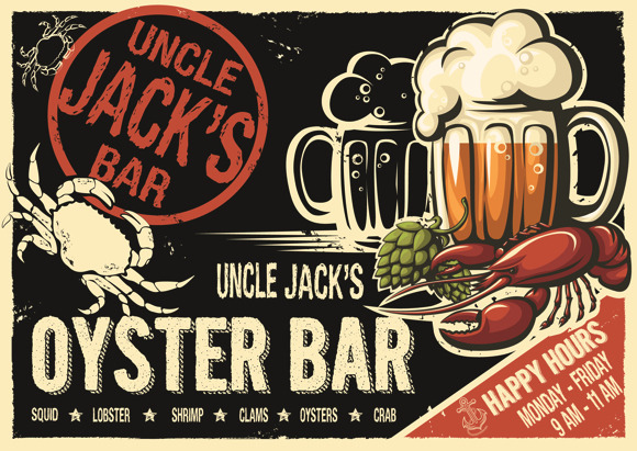 Uncle JackЎЇs Oyster Bar Poster