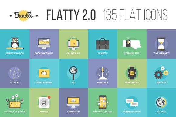 Bundle Of Flatty Icons 2.0