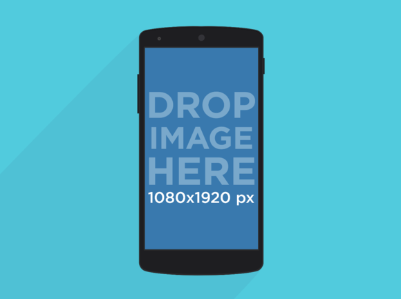 Illustrated Nexus 5 Mockup