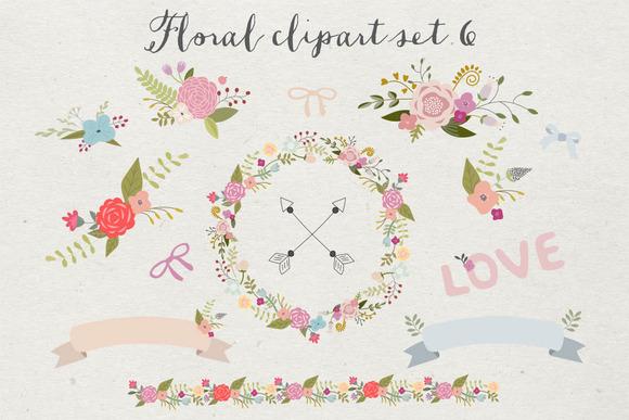 Floral Clipart Set 6