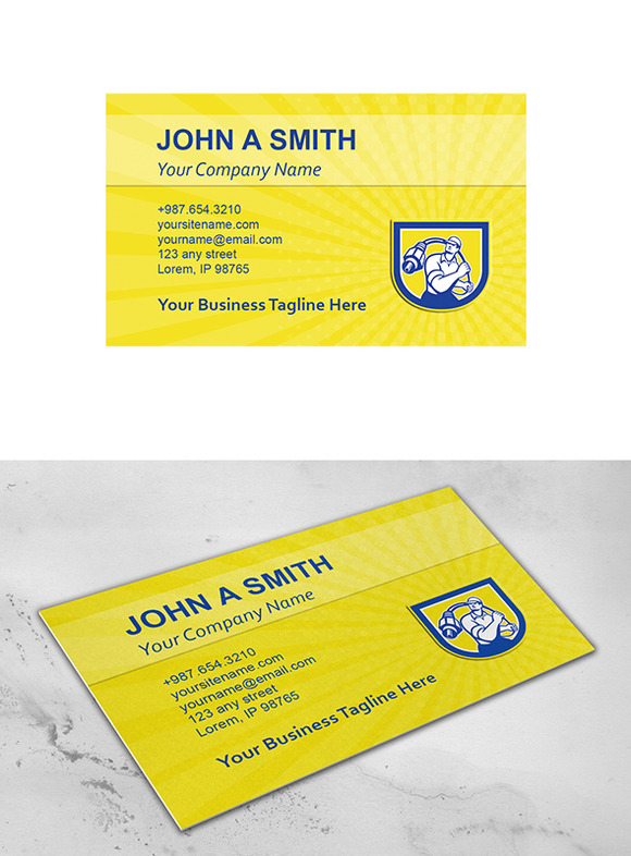 Business Card Template Cable Guy Wie