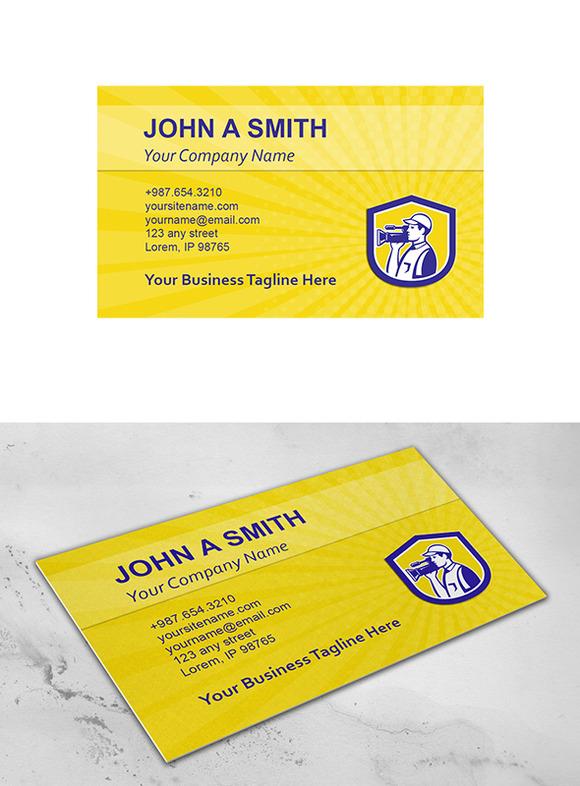Business Card Template Cameraman Fil