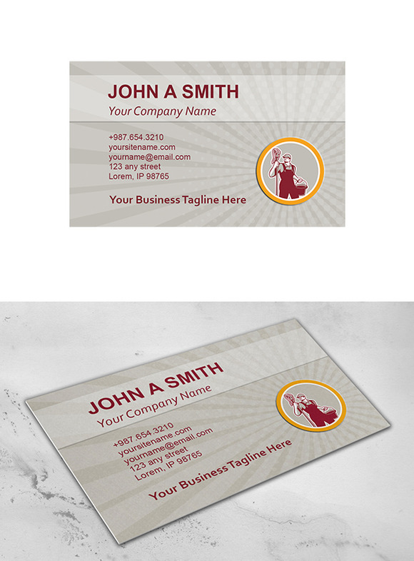 Business Card Template Janitor Holdi