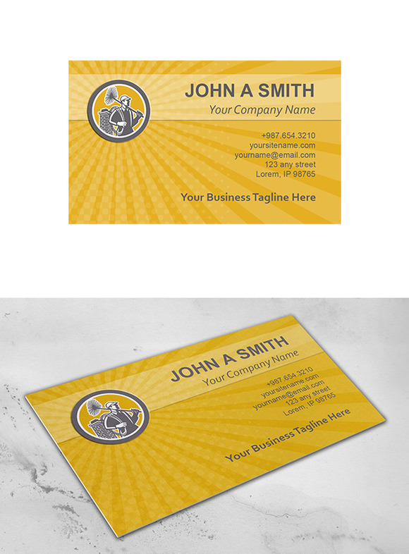 Business Card Template Chimney Sweep