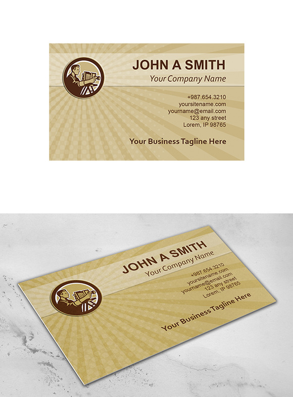 Business Card Template Photographer