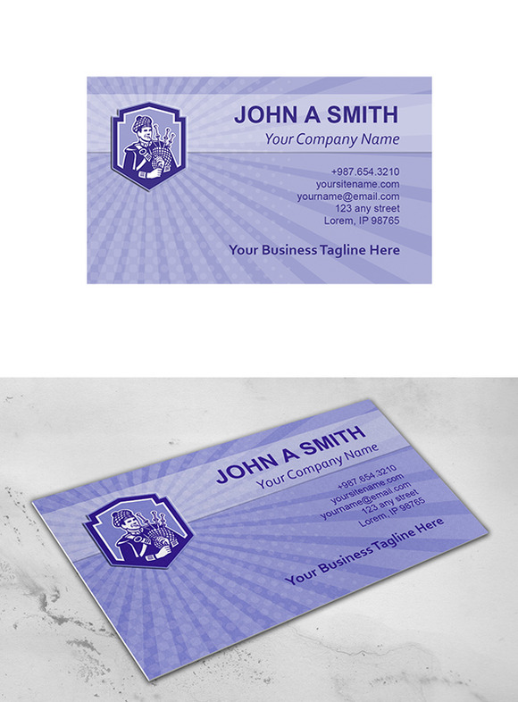 Business Card Template Scotsman Bagp