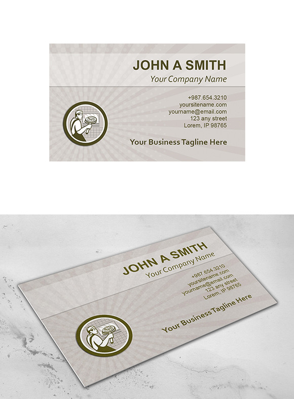 Business Card Template Pizza Maker R