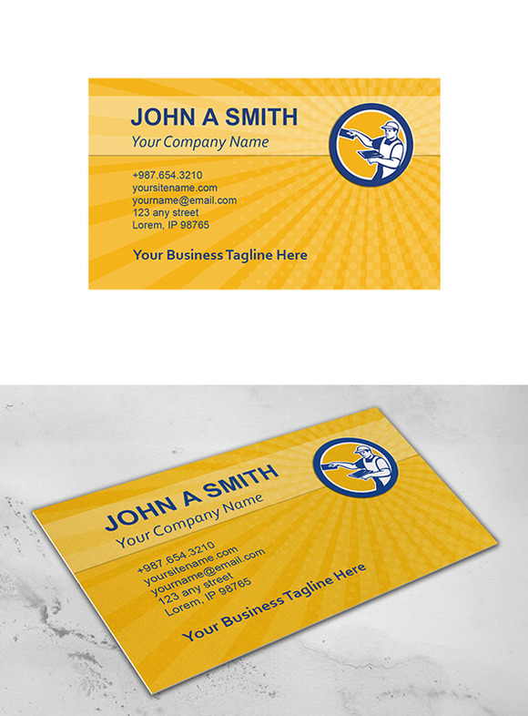 Business Card Template Plasterer Wit