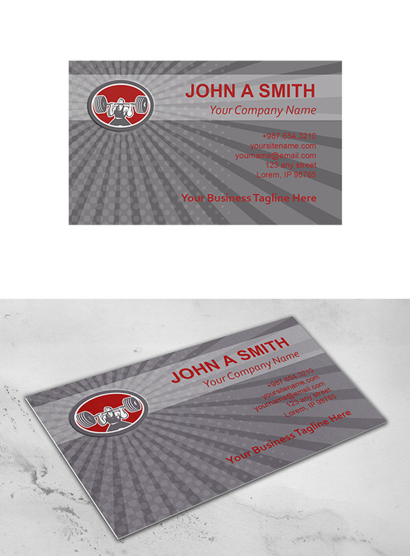 Business Card Template Weightlifter