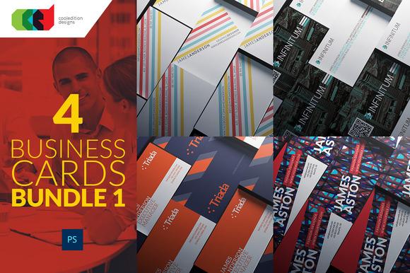 4 Business Cards Bundle 1