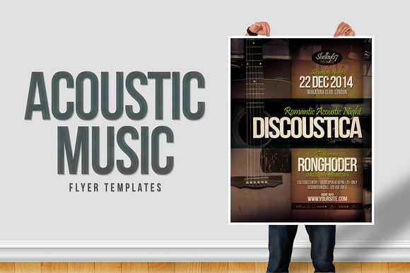 Acoustic Music Flyer Templates