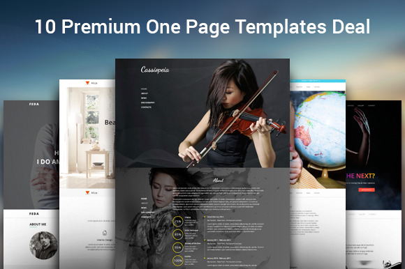 10 One Page HTML Templates Bundle