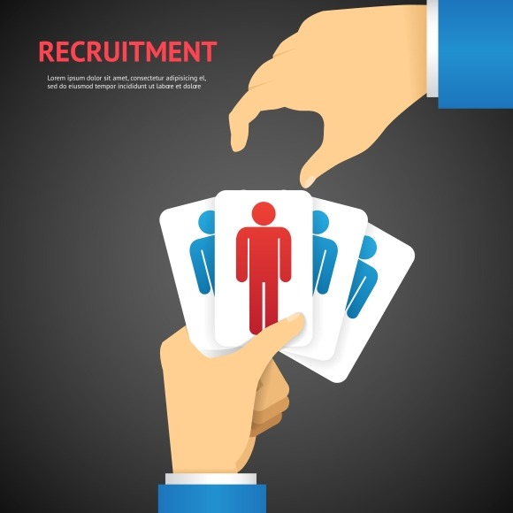 Recruitment Cards Hold By Hand