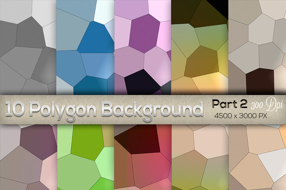 10 Backgrounds Polygon Part 2