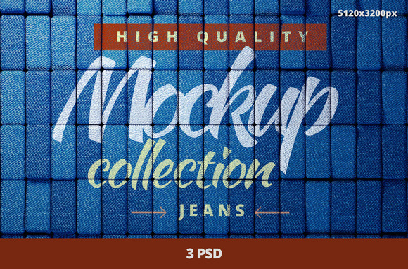 Jeans Mock-up Collection