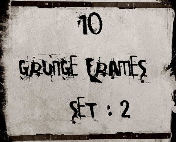 10 High Res Grunge Frames