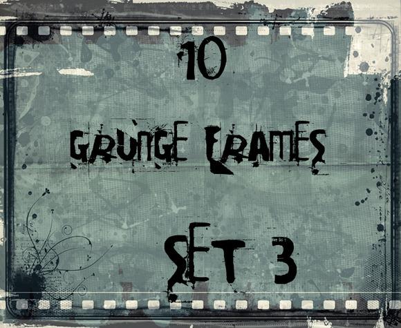 10 Retro Style Grunge Frames