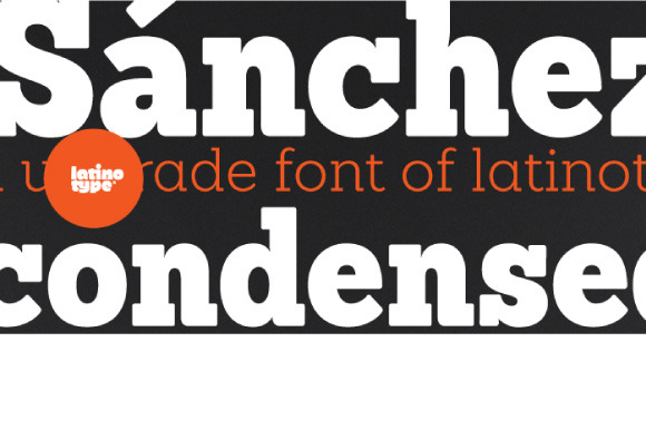 Sanchez Condensed Family 50% Off