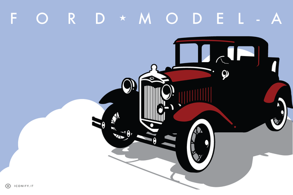 Ford Model-A Illustration