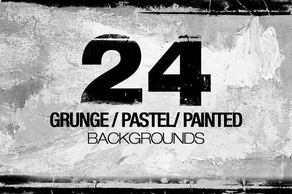 Grunge Pastel Paint Backgrounds