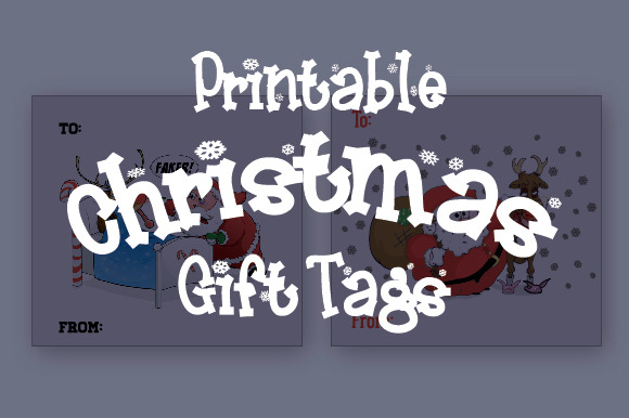 Hand-Drawn Printable Christmas Tags