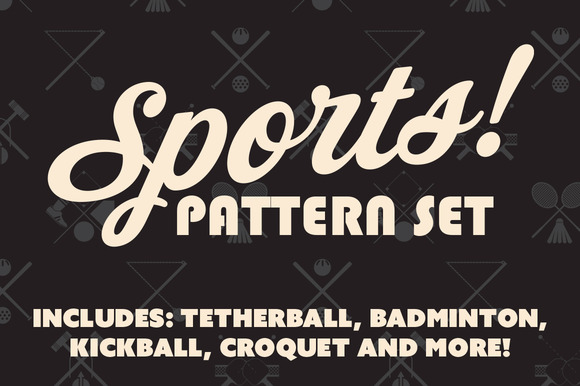 Sports Pattern Icon Set