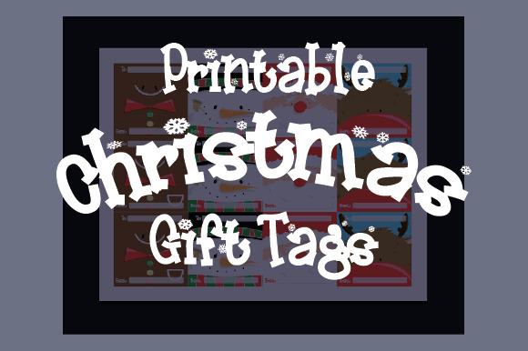 Printable Christmas Faces Gift Tags