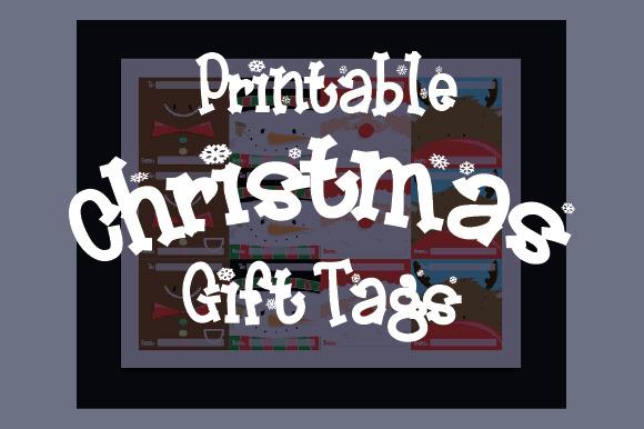 Printable Christmas Faces Gift Tags