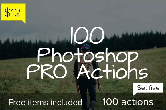 100 Photoshop Pro Actions Set 5