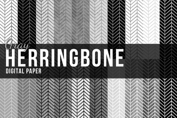 Gray Herringbone Paper