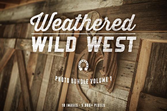 Weathered Wild West Photo Bundle