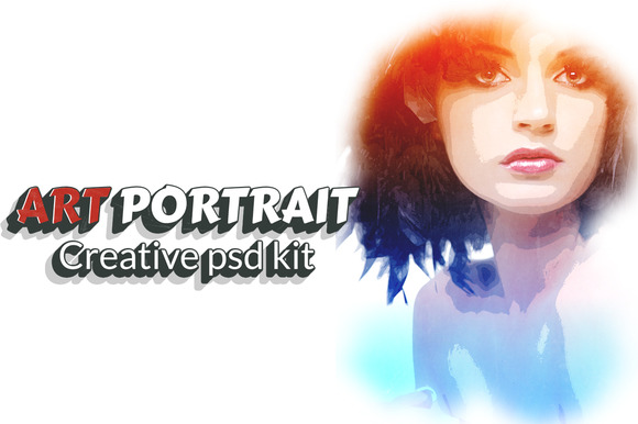 Art Portrait Creative Psd Kit