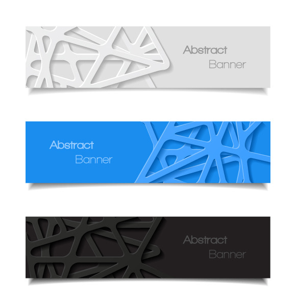 Set Of Abstract Banners