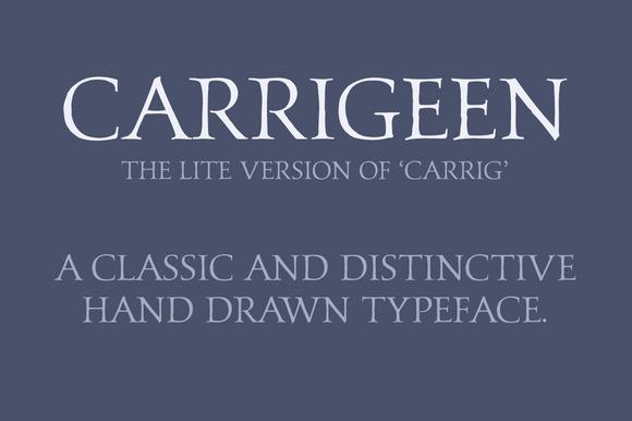 Carrigeen Display Typeface