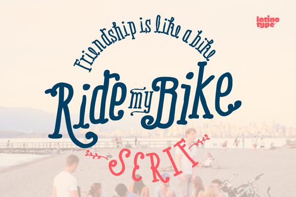 Ride My Bike Serif Pro Family 50%Off