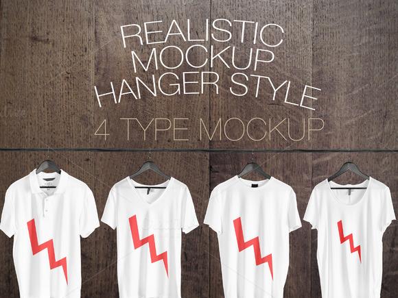 4 Realistic Mockup Hanger Style