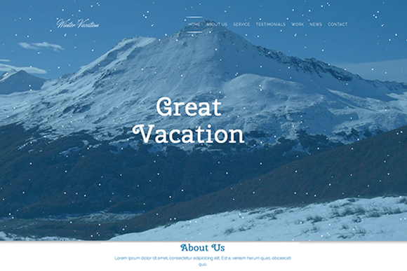 Winter Vacation Travel HTML Theme