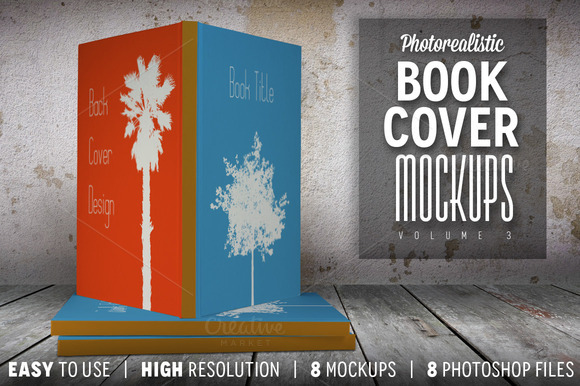 Photorealistic Book Cover Mockups 03