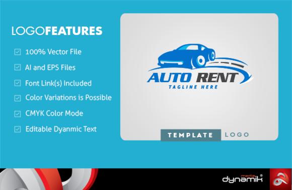 Auto Rent Logo Template