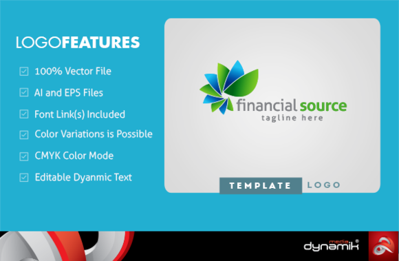 Financial Source Logo Template