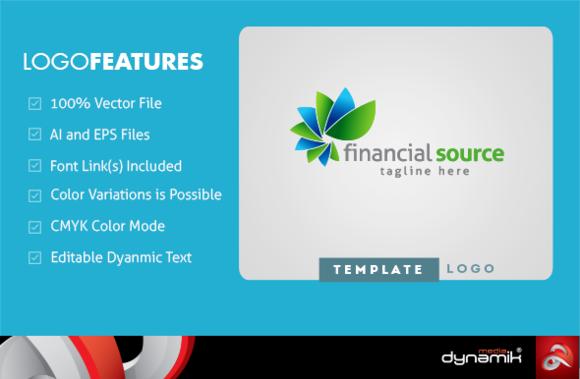 Financial Source Logo Template