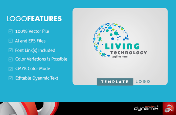 Living Technology Logo Template