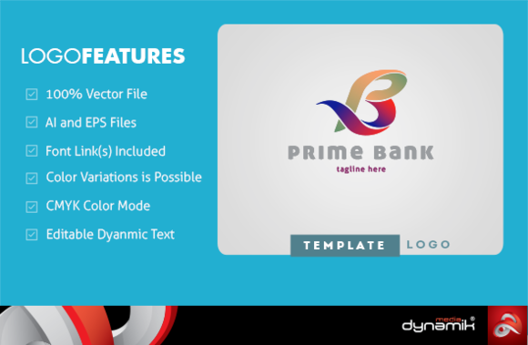 Prime Bank Logo Template