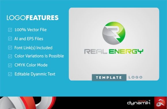 Real Energy Logo Template