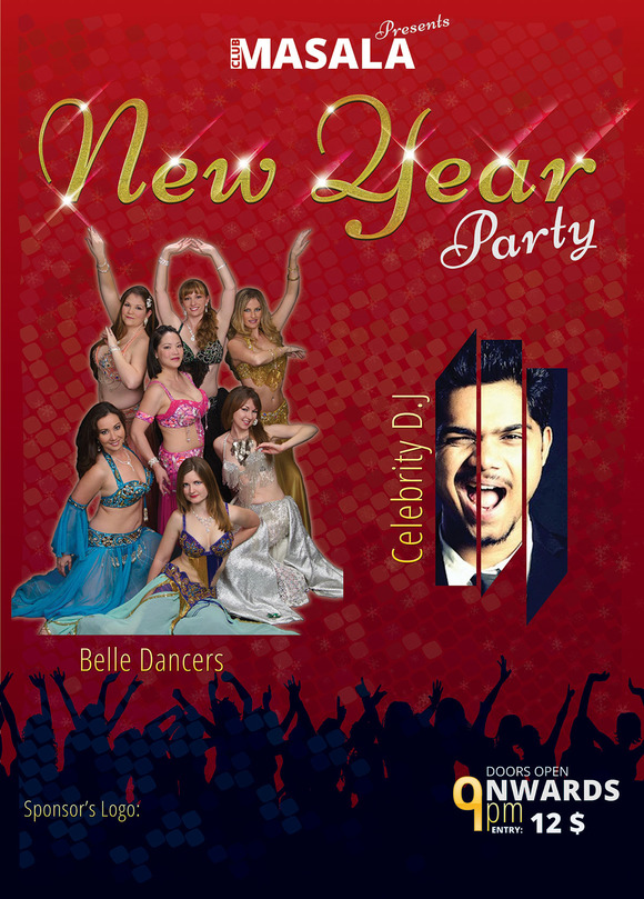 New Year Flyer A3 Size