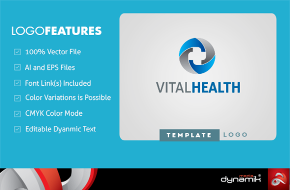 Vital Health Logo Template