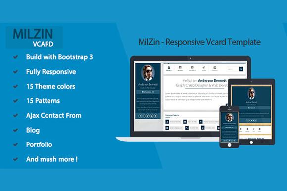 MilZin Responsive Vcard Template