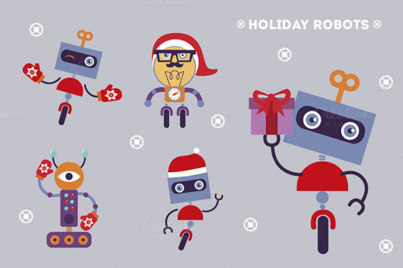 Holiday Robots Characters
